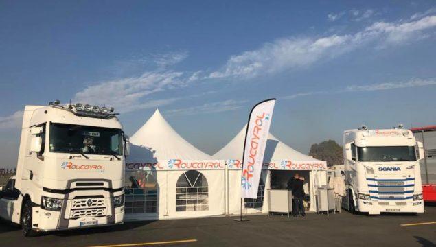 Stand Transports Roucayrol événement grand prix camions 2017